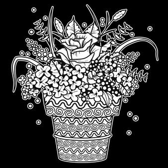 Flower Pot Velvet Art Poster