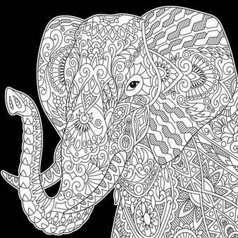 Elephant Square Velvet Art Poster