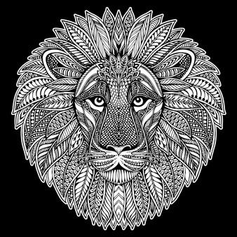 Lion Square Velvet Art Poster