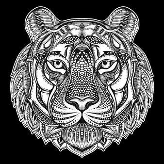 Tiger Square Velvet Art Poster