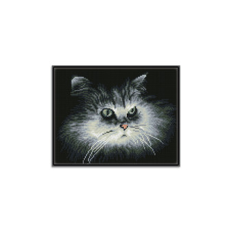 Shadow Cat Pre-Framed Diamond Dotz® Square Diamond Painting Kit