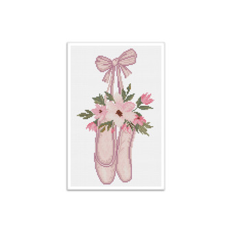 Ballet Slippers Pre-Framed Diamond Dotz®Square Diamond Painting Kit