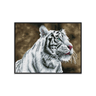 Tigre Blanc Pre-Framed Diamond Dotz® Square Diamond Painting Kit