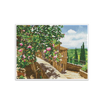 Tuscan Vista Pre-Framed Diamond Dotz® Square Diamond Painting Kit