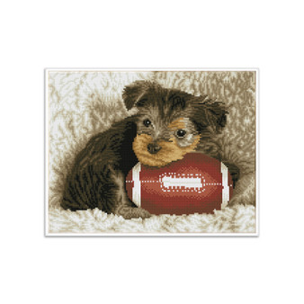 Footy Pup Pre-Framed Diamond Dotz® Square Diamond Painting Kit