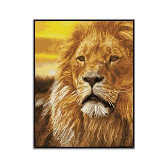 Lord Of Serengeti Pre-Framed Diamond Dotz® Square Diamond Painting Kit