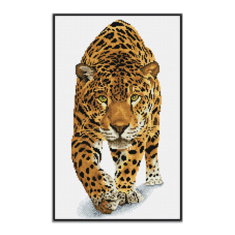 On The Prowl Pre-Framed Diamond Dotz® Square Diamond Painting Kit