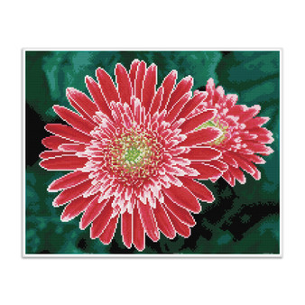 Pink Gerberas Pre-Framed Diamond Dotz® Square Diamond Painting Kit