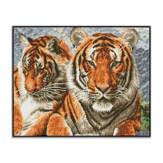 Tigers Pre-Framed Diamond Dotz® Square Diamond Painting Kit