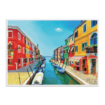 Italian Summer Pre-Framed Diamond Dotz® Square Diamond Painting Kit