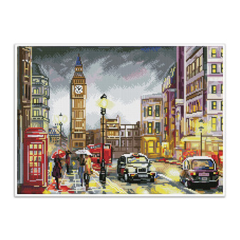 London Scene Pre-Framed Diamond Dotz® Square Diamond Painting Kit