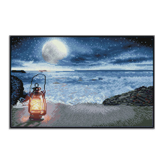 Seaside Vigil Pre-Framed Diamond Dotz® Square Diamond Painting Kit
