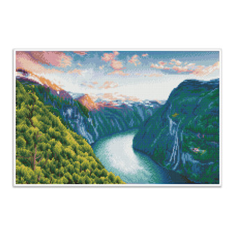 Mighty River Pre-Framed Diamond Dotz® Square Diamond Painting Kit