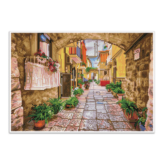 Rustic Street Pre-Framed Diamond Dotz® Square Diamond Painting Kit