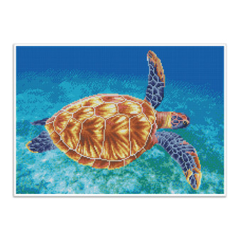 Graceful Swimmer Pre-Framed Diamond Dotz® Square Diamond Painting Kit