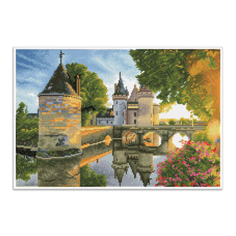 River Castle Pre-Framed Diamond Dotz® Square Diamond Painting Kit