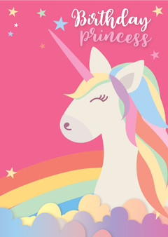 Personalised Birthday Unicorn Card