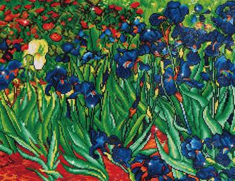 Irises (Van Gogh) Diamond Painting Kit