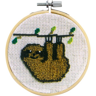 Sammy the Sloth Needle Punch Kit With Hoop