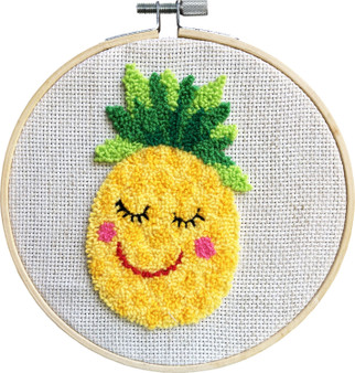 Penelope The Pineapple Needle Punch Kit With Hoop