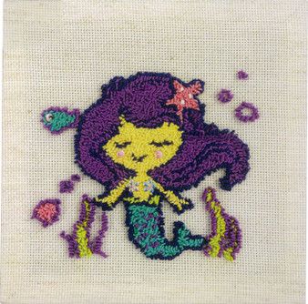 Mermaid Bliss Needle Punch Kit With Frame