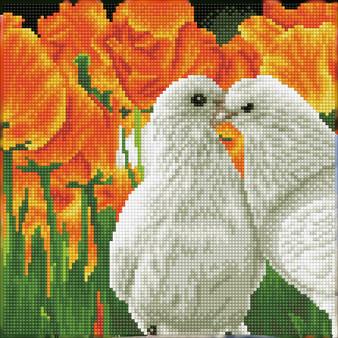 Kissing Doves Diamond Dotz Diamond Painting Kit