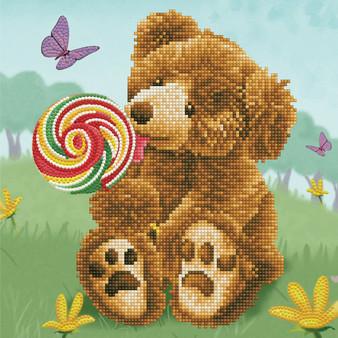 Honey Pot Bear Lolly Pop Lick Diamond Dotz Diamond Painting Kit