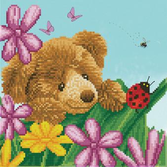 Honey Pot Bear Hide & Seek Diamond Dotz Diamond Painting