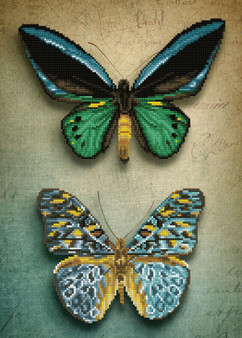 Antique Butterflies Diamond Dotz Diamond Painting Kit