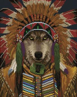 Wolf Spirit Chief Diamond Dotz Diamond Painting Kit