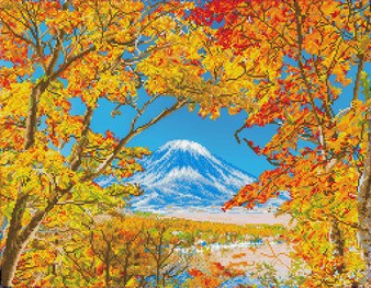 Autumn Mountain Diamond Dotz Diamond Painting Kit