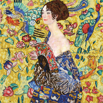 Lady with Fan (après Klimt) Diamond Dotz Diamond Painting Kit