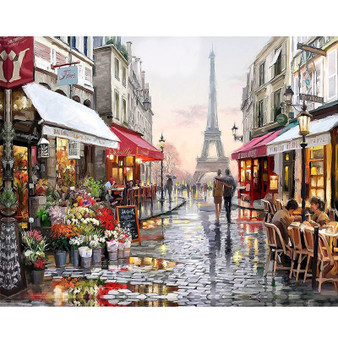 Rainy Paris Paint By Numbers Pre-Framed Kit