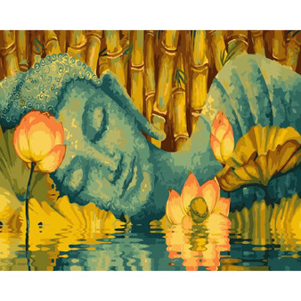 Sleeping Buddha Paint By Numbers Pre-Framed Canvas