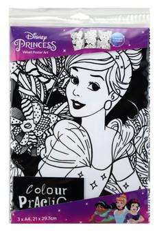 Snow White, Jasmin, Cinderella Disney 3 Pack Velvet Art Posters