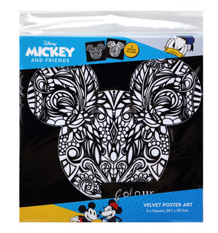 Mickey and Minnie Disney 2 Pack Velvet Poster Art