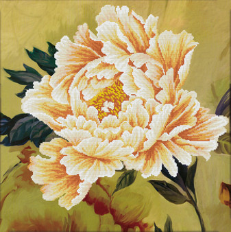 Blooming Peony 2 No Count Cross Stitch