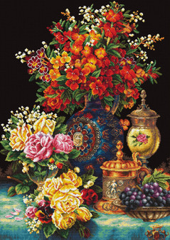 Classic Flowers No Count Cross Stitch