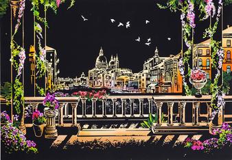 Venice Night View Scratch Art