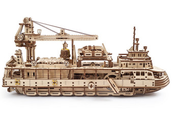 Ugears Research Vessel Mechanical Model