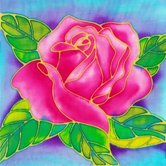 Rosy Rose Batik Painting Kit