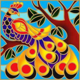 Glory Peacock Batik Painting Kit