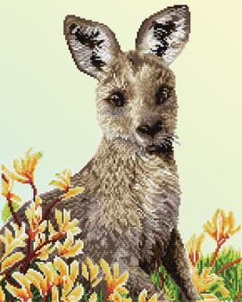 Kangaroo & Kangaroo Paw Diamond Dotz Diamond Painting Kit
