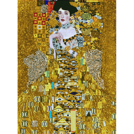 Woman In Gold Diamond Painting Kit