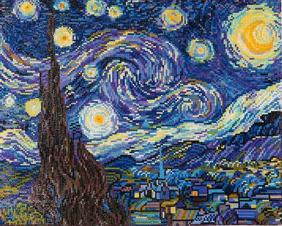 Starry Night (Van Gogh) Diamond Painting Kit