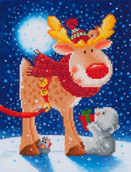 Reindeer Gift Diamond Painting Kit