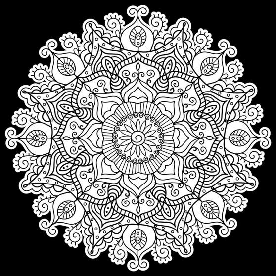 Mandala Square Velvet Art Poster