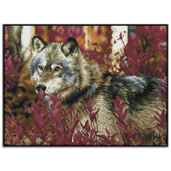 Autumn Wolf Pre-Framed Diamond Dotz® Square Diamond Painting Kit