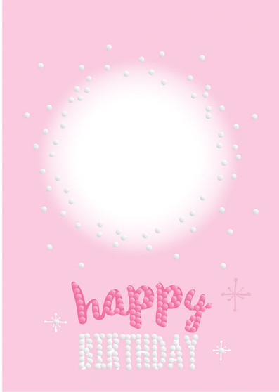 Personalised Happy Birthday Sparkle Card