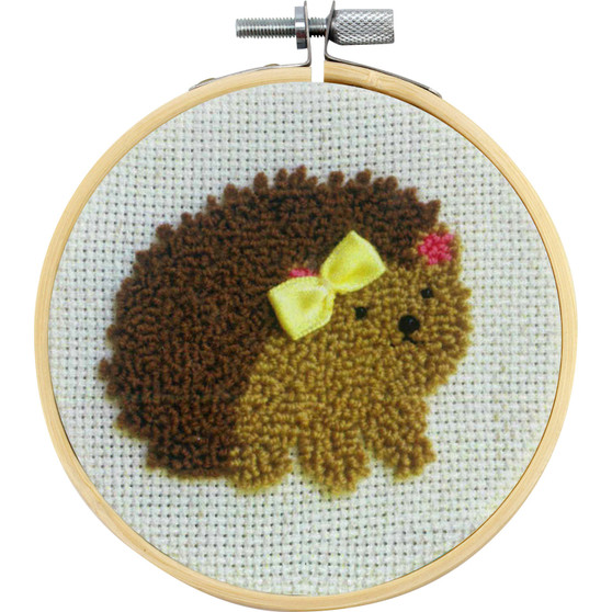 Heddy The Hedgehog  Needle Punch Kit With Hoop